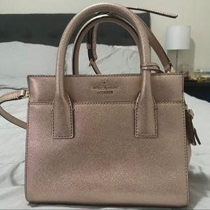 Kate Spade Rose Gold Small Satchel - Like New